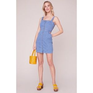 BB DAKOTA OVERALL WINNER DENIM DRESS SZ SML NWT